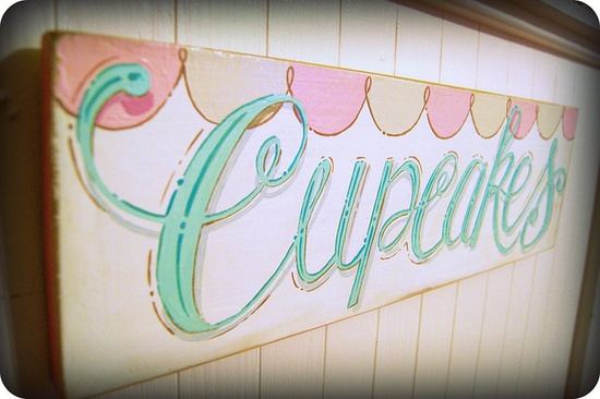 Cupcakes sign by Everyday is a Holiday