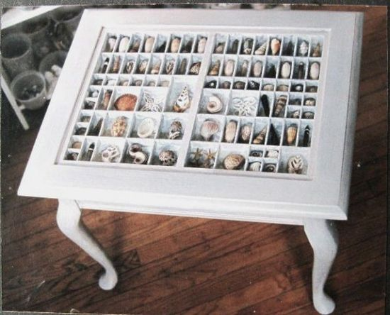 Shadow box on any shape table...