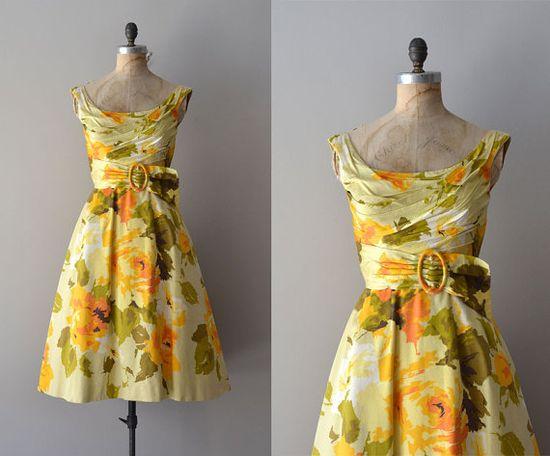 vintage Ceil Chapman 1950s garden party dress l florals make my heart sing