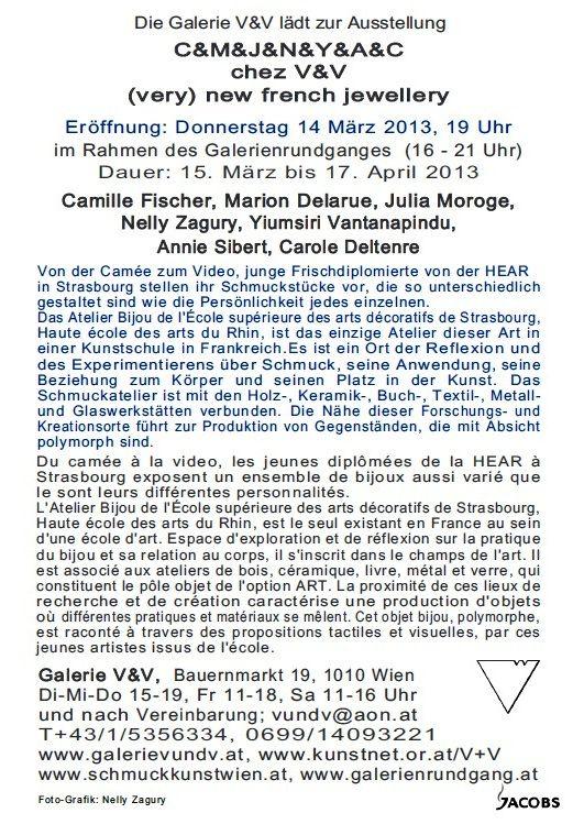expo V - carton expo collective - texte