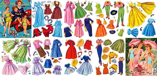 tons of paper dolls!