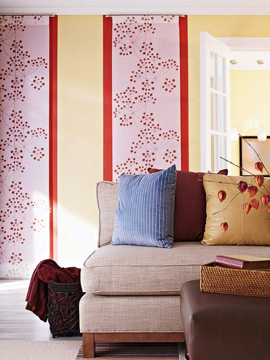 Wall art using curtain panels
