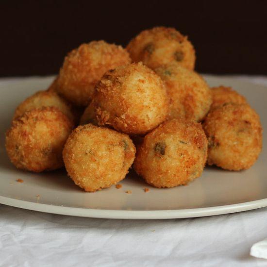 Pea, Mint and Feta Arancini