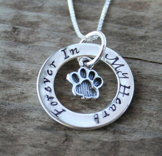 Eternity Circle Necklace for Pet Owners  Cat or Dog by labelledame, $58.00