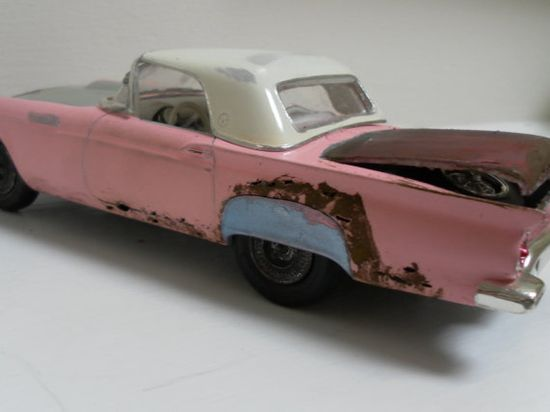 Models of classic cars that are wrecks. Celebrating the patina of use, life and love.
