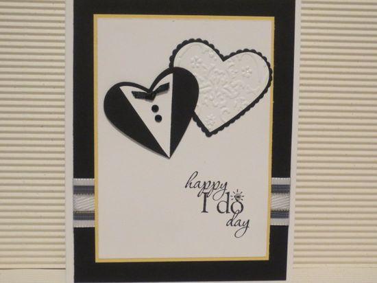 Stampin up heart punch & die wedding card