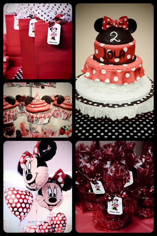 Minnie Mouse party theme.