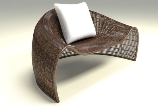 outdoor furniture idea croissant armchair