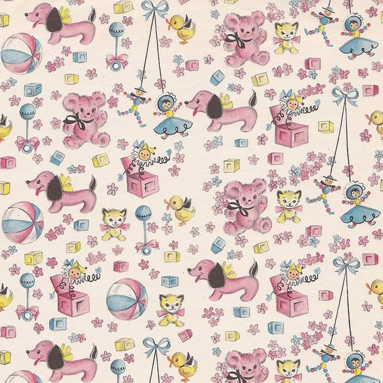 Vintage Gift Wrap Baby