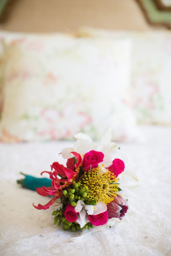 bright bouquet // photo by Sarah Layne Photography // flowers by Cattleya // View more: ruffledblog.com/...