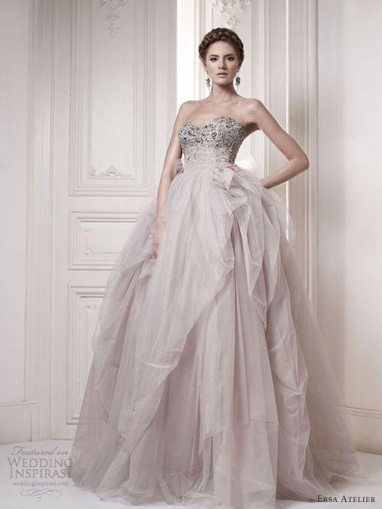 ersa atelier bridal 2013 color wedding dresses
