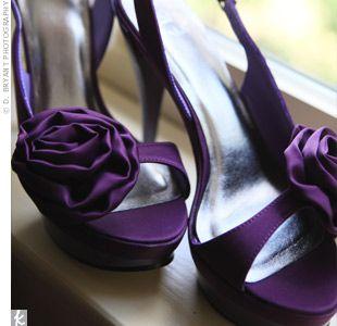 purple wedding heels!