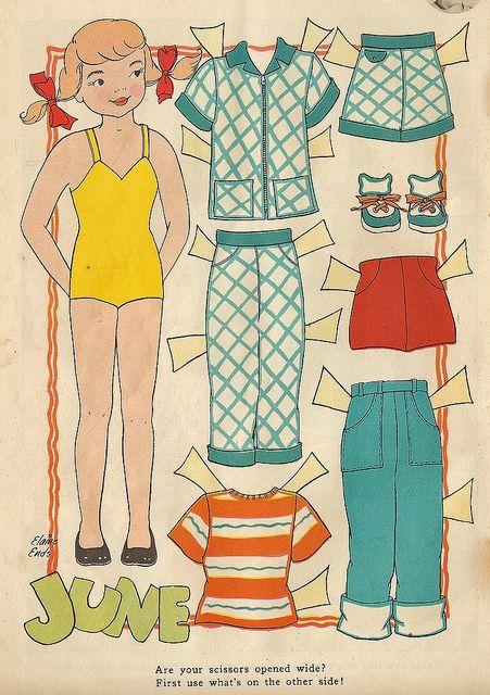 Vintage Paper Doll, June by shelece, via Flickr