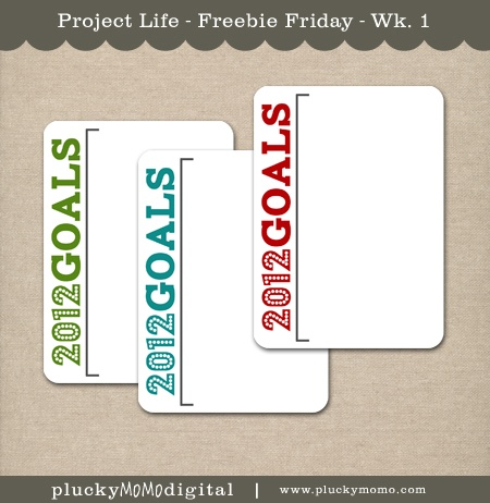 free cards for Project life