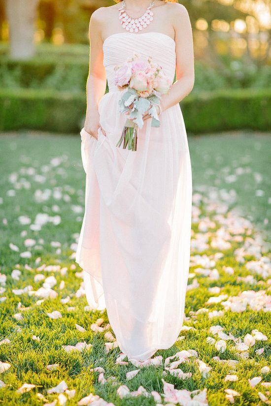 blush pink bridesmaid dress by www.billlevkoff.com/ for the ultimate in romance  Photography By / staceyramsey.com, Floral   Event Design By / wildflowerofsancl...
