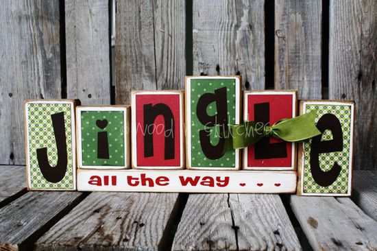 These would be cute to make out of blocks of wood, scrapbooking supplies, and modge podge. Cute gift idea!