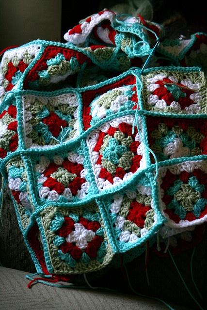 granny square blanket love
