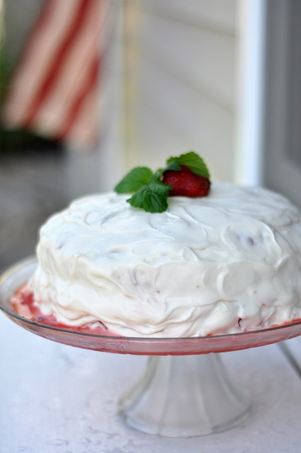 strawberry shortcake...I'm thinkin' I'm going to make a strawberry shortcake cake to bring to Ed and Casey's tomorrow.