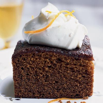 Molasses-Gingerbread Cake with Mascarpone Cream // More Beautiful Desserts: www.foodandwine.c... #foodandwine