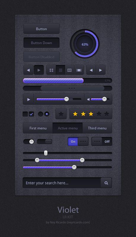 Violet - Free UI Kit
