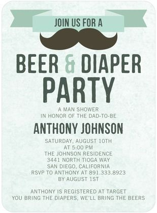 A Beer and Diaper Man Shower for the Dad-to-Be! Cutest thing ever!! Because what man wants to go to the Baby Shower? lol Great to have the same day as the Baby Shower