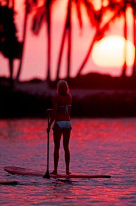 SUP... sunset...