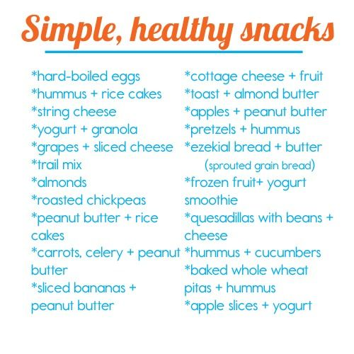 Simple healthy snacks