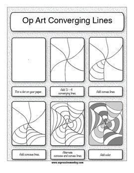 Op Art and the Elements of Art - Expressive Monkey - TeachersPayTeache...
