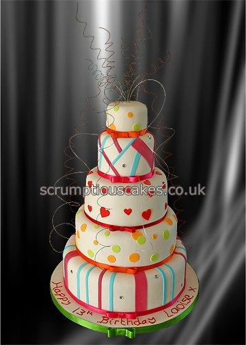 Birthday Cake via Scrumptious Cakes
