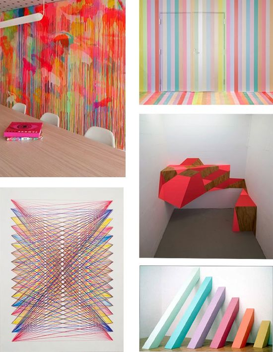 11 colorful art installations