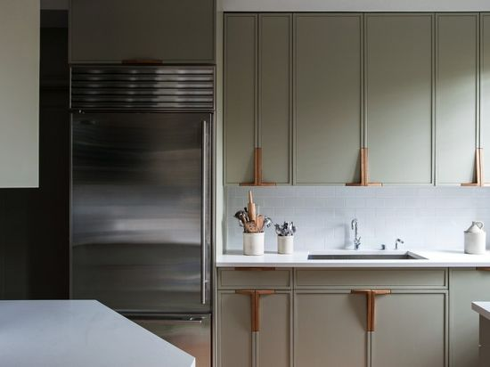 47 Plaza Residence, Workstead, Remodelista. Beautifully realized kitchen with subtle colors and detailing. I love the organic, custom designed cabinet handles.