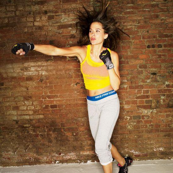 Boxing workout.