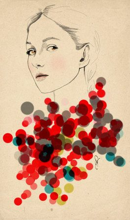 fashion illustration via Maria
