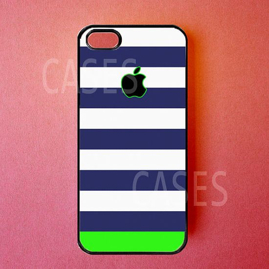 Iphone 5 Case Blue Green Iphone Cover Cute Striped by DzinerCases, $14.99