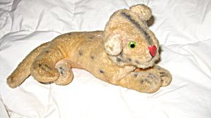 ADORABLE ANTIQUE VINTAGE LION PLUSH STUFFED ANIMAL TOY