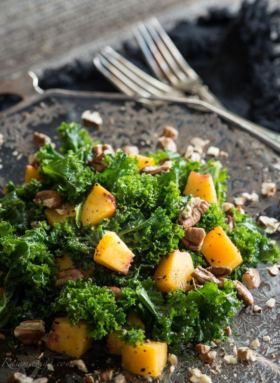 Peach Kale Salad @Wendy Werley-Williams.R...