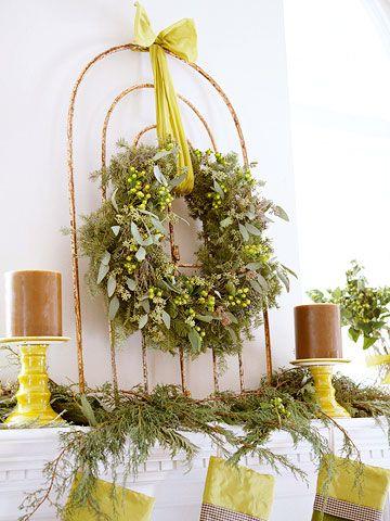 Christmas Mantel Natural Beauty