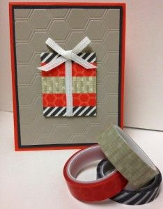 Handmade birthday card featuring Epic Day This and That Designer Washi Tape from Stampin' Up!