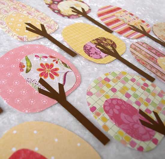 I think these paper trees would be so fab in fabric!