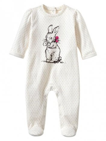 Graphic Footed One Piece @babycenter
