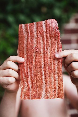 Easy homemade fruit leather