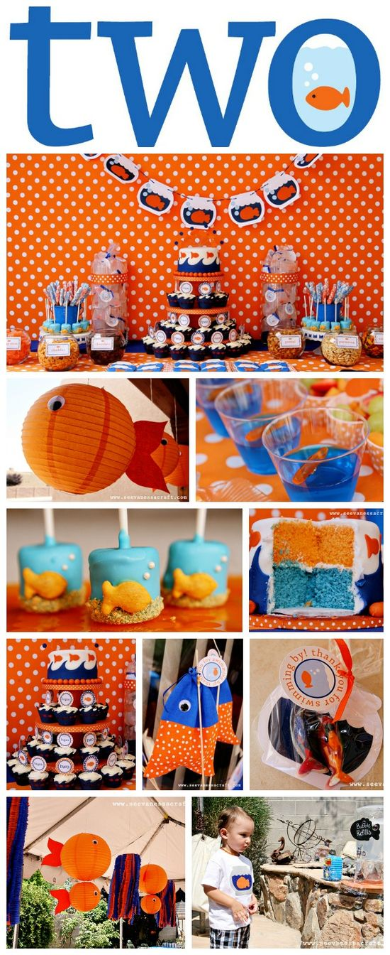 Winning Party! Gold Fish birthday party