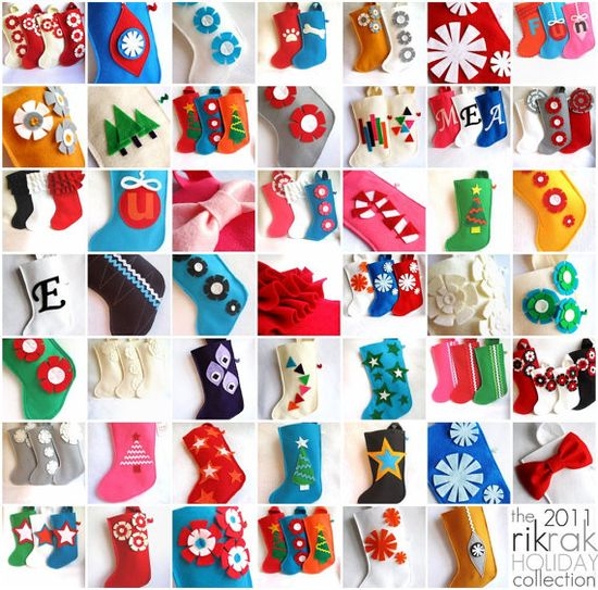 your choice of one Holiday Christmas felt stocking in by rikrak, $18.00