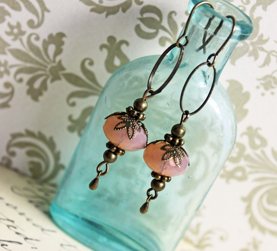 use  asection of larger looped chain to make components Handmade earrings via Etsy