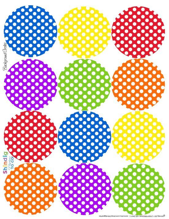 Polka dot circle free printables