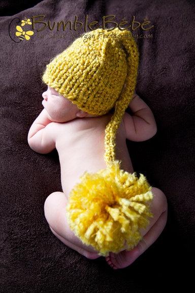 Elf knit hat / baby photos