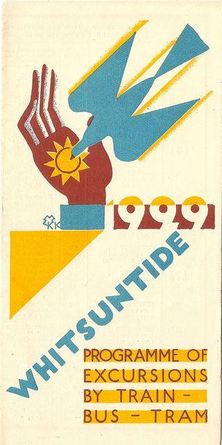 London Underground Group - Whitsuntide 1929 leaflet, cover by Edward McKnight Kauffer