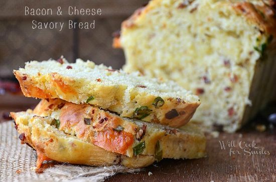 Bacon & Cheese Savory Bread
