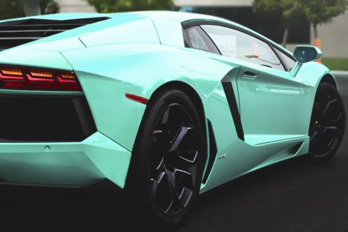 Mint green car?