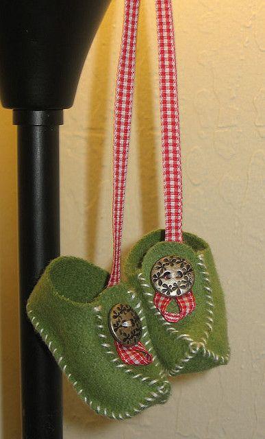 Elf Shoe Ornaments